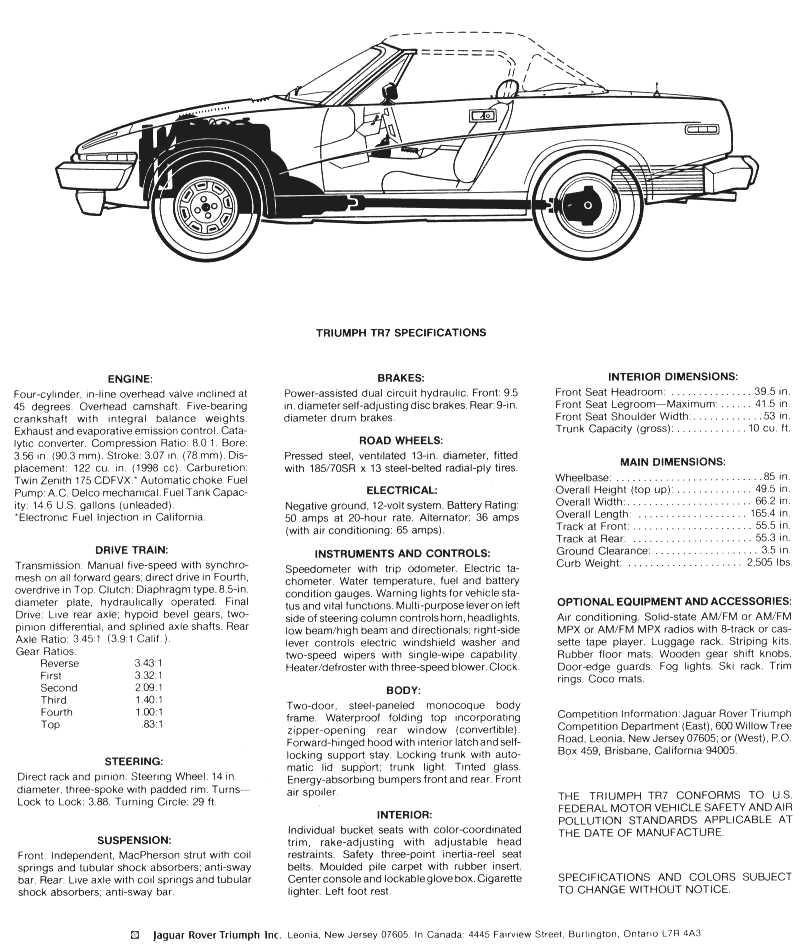 Tr7 Tr8 Brochures